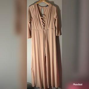 Venus beige jumpsuit size XL in EUC